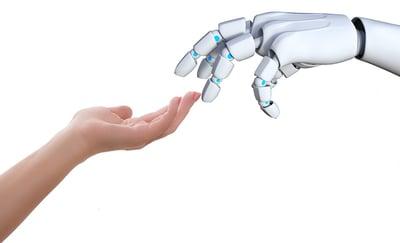 Human helps robot