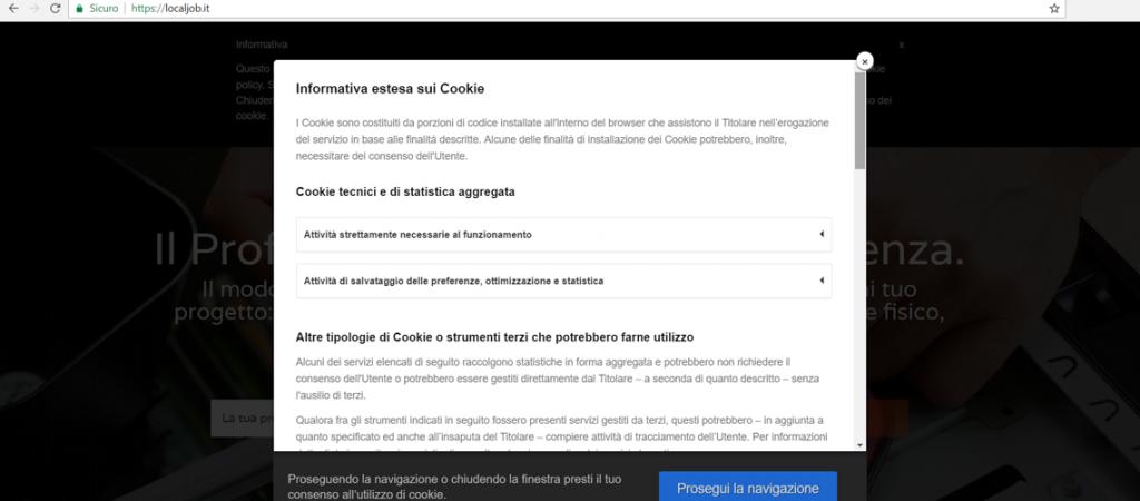 Cookie Law agenzia web Bologna Imola