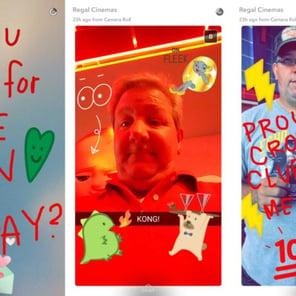 come usare Snapchat per aziende_Regal-Cinemas