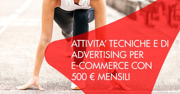 attività tecniche e marketing per ecommerce con 500 euro mensili
