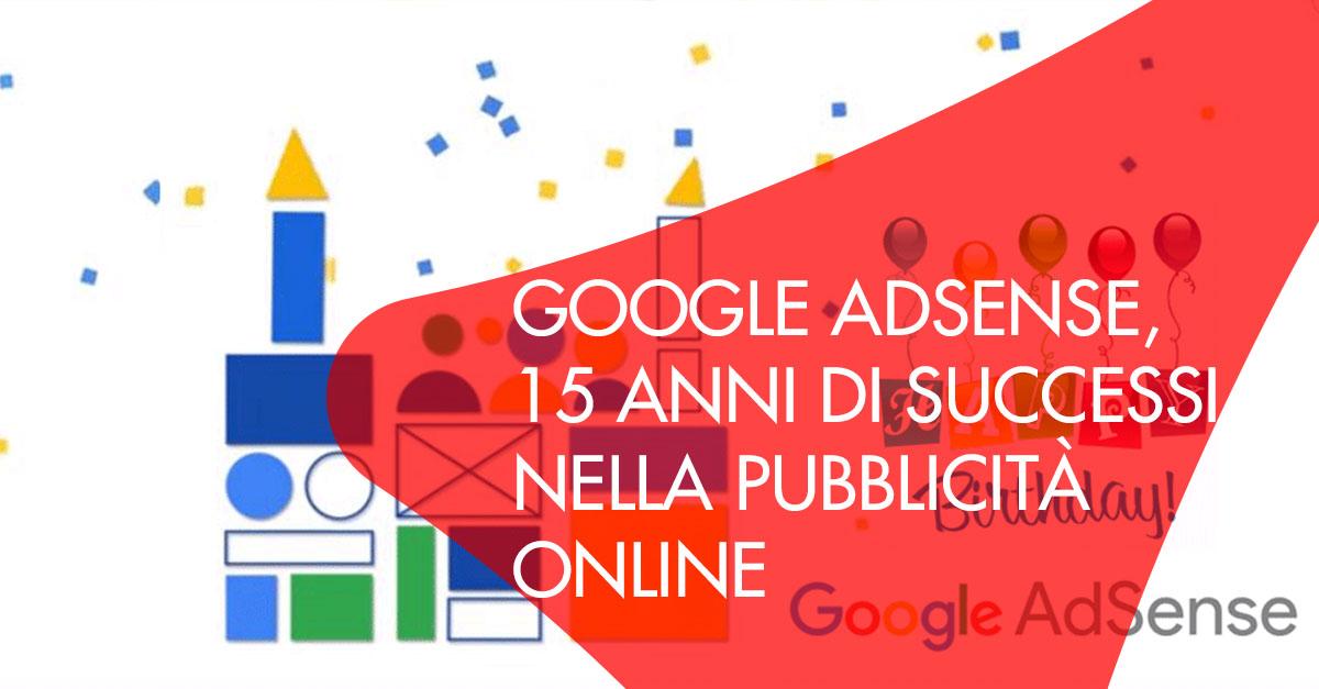 Google Adsense 15 anni