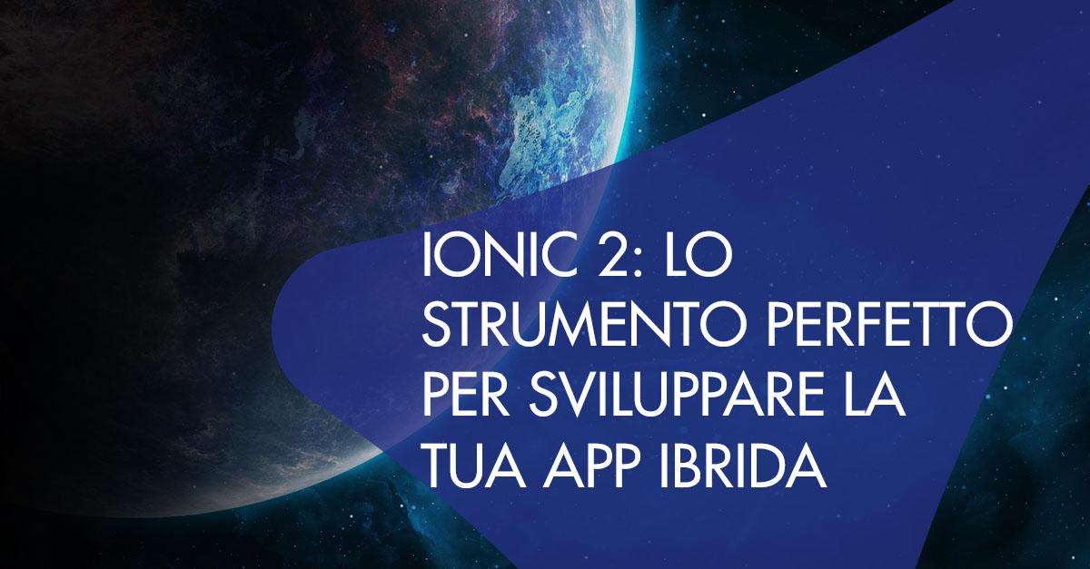 ionic 2 strumento app ibrida
