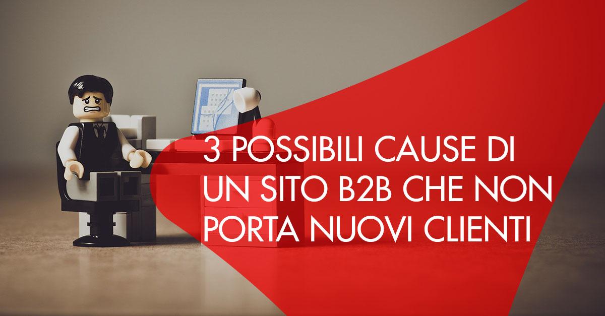 cause sito b2b non porta clienti