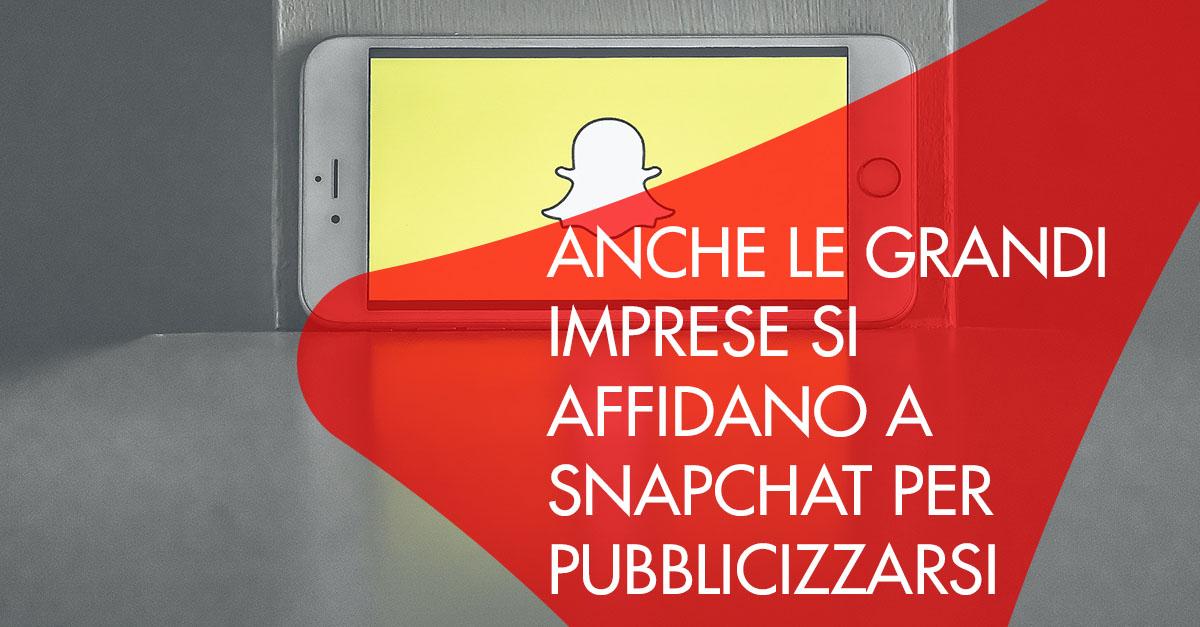 Snapchat grandi aziende