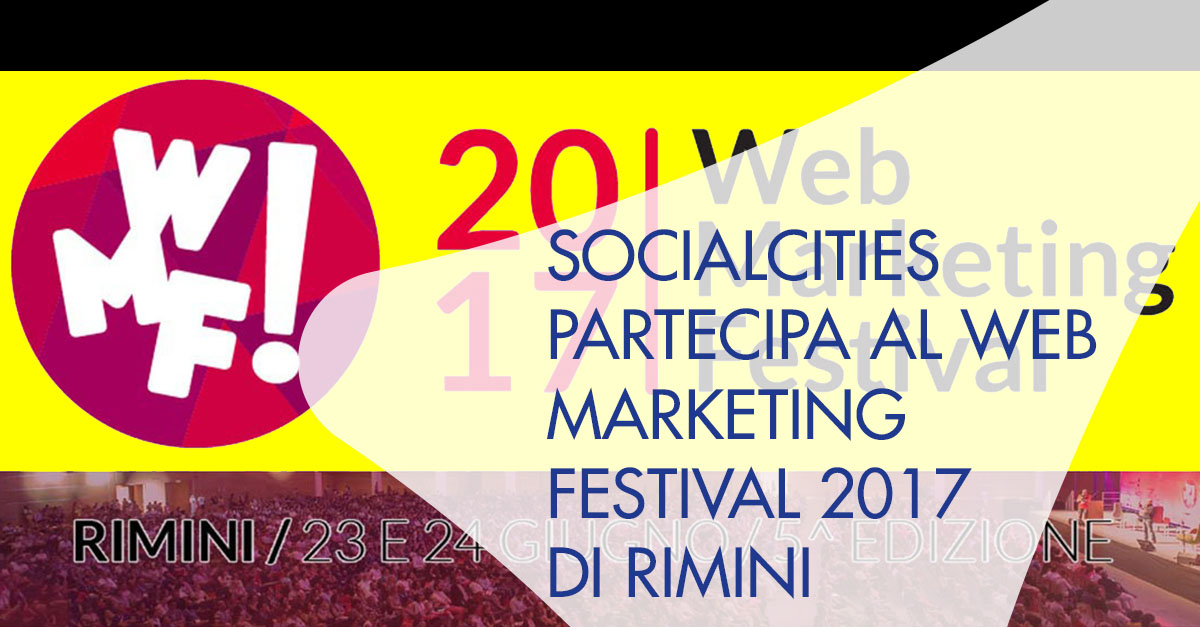 SocialCities Web Marketing Festival Rimini