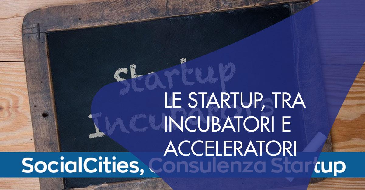 Startup incubatori acceleratori