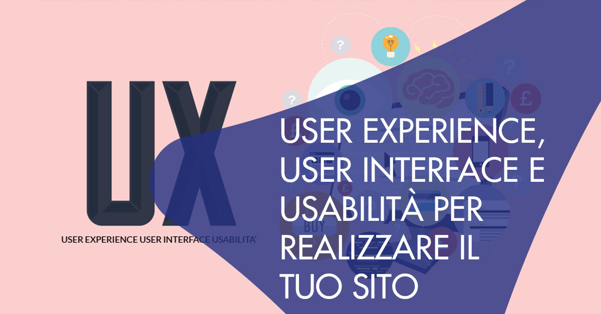 UX User Experience User Interface sito web