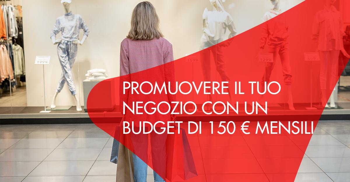 promuovere attività con 150 euro mensili